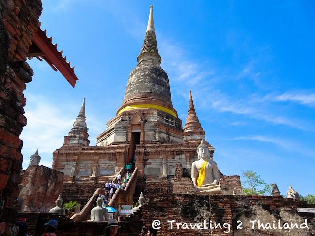 Wat Yai Chai Mongkol in Ayuthaya, Thailand