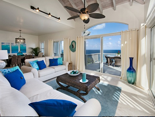 Contrast Rich Ocean Blue Decor