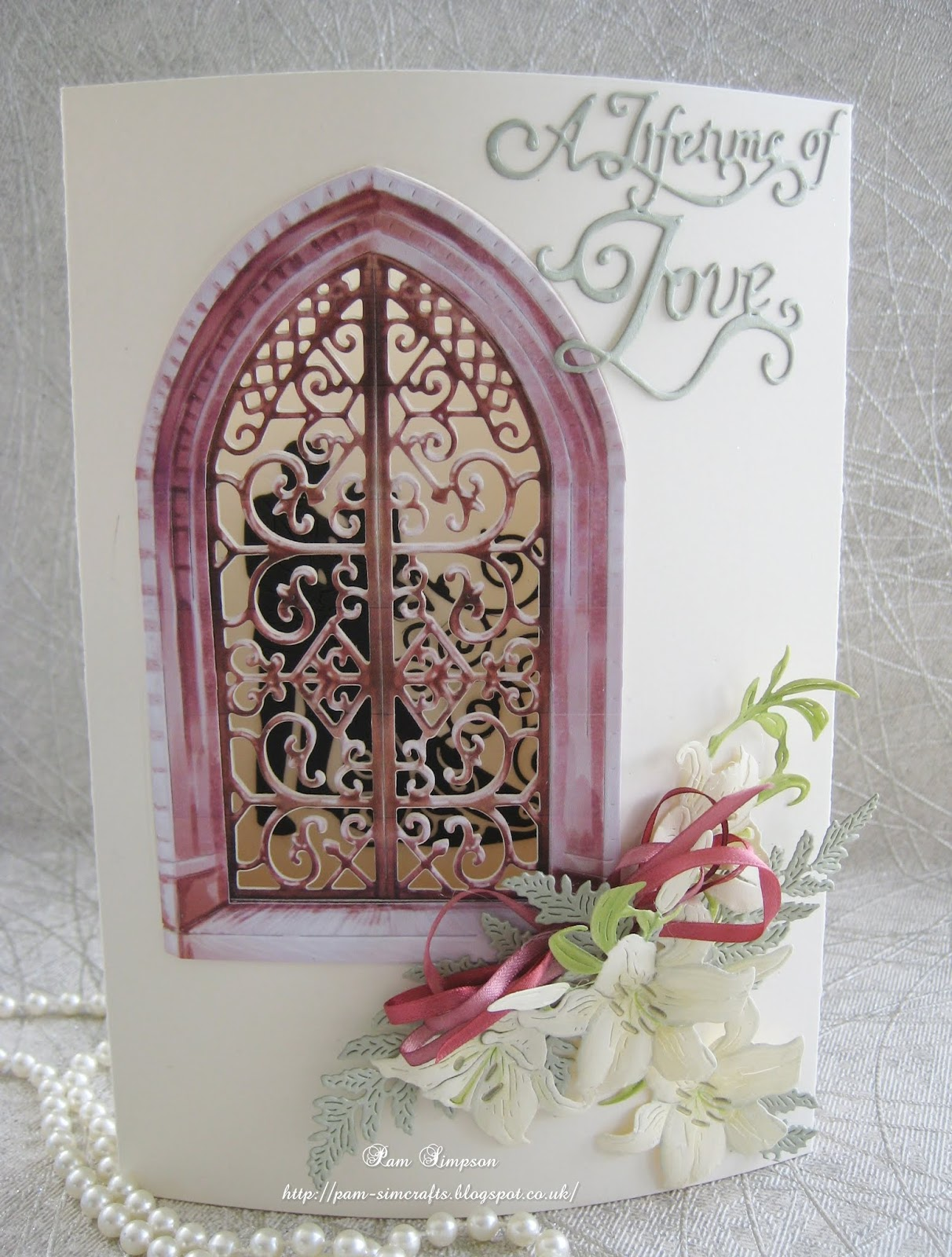 Main Card Shapetattered Lace Picture Window Die Set To Get