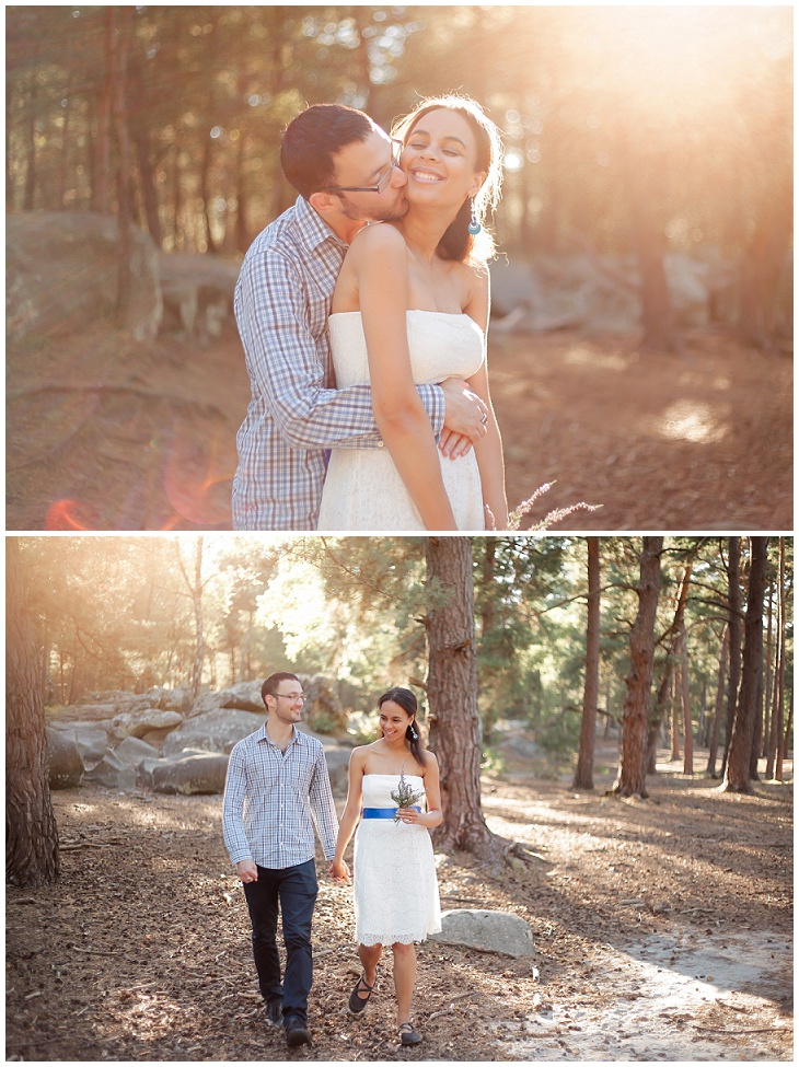 photographe mariage couple seance engagement foret 75