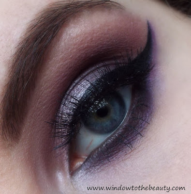 purple nude makeup