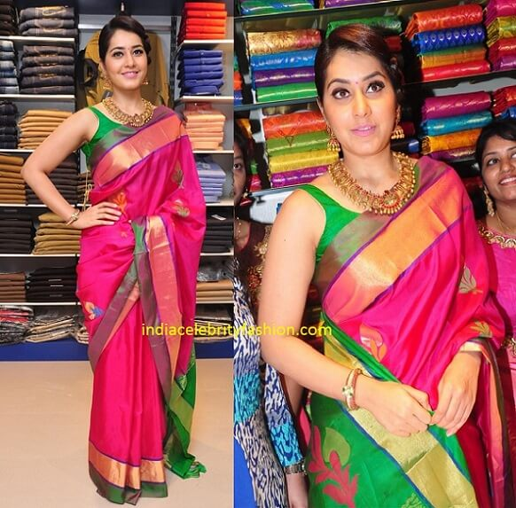 Raashi Khanna in Uppada Silk Saree