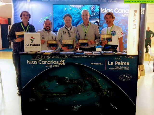 Turismo La Palma presenta la primera guía de buceo de la isla en la principal feria nacional especializada en el sector