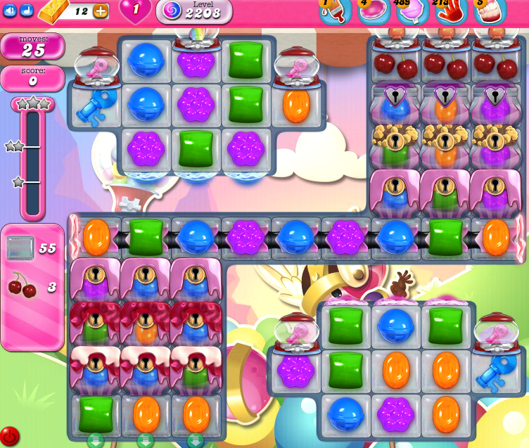 Candy Crush Saga level 2208