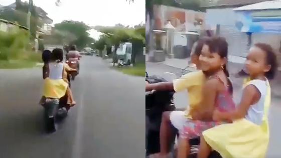 Video: Tiga Bocah Perempuan Naik Motor Ngebut Di Jalan Raya Mendadak Viral