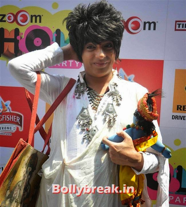 Rohit Verma, Sunny, Tanisha, Poonam & Kainaat at Zoom Holi Party 2014