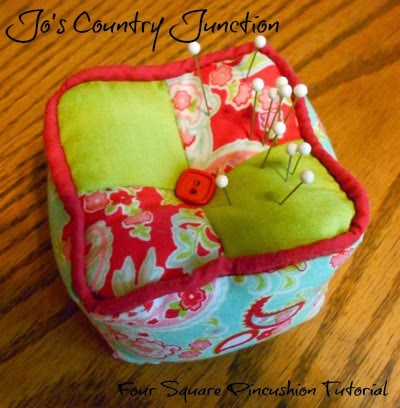 131206a38867 Who ever thought to make a square pincushion   Jo of Jo s Country Junction  did! Check out her