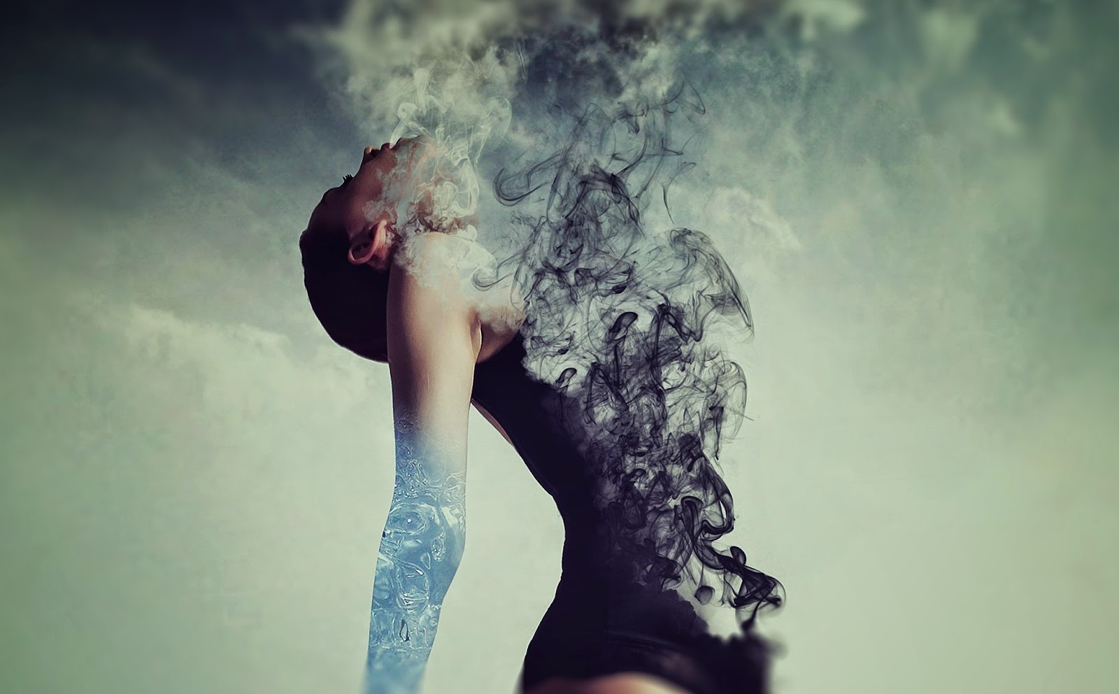 Between Water & Clouds Photo Manipulation