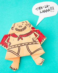 How to Fold an Origami Captain Underpants