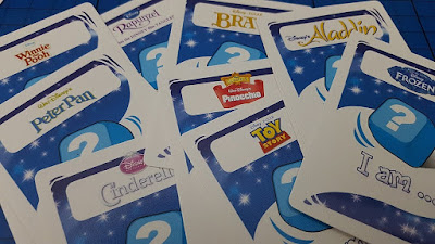 Disney Charades cards review childrens game
