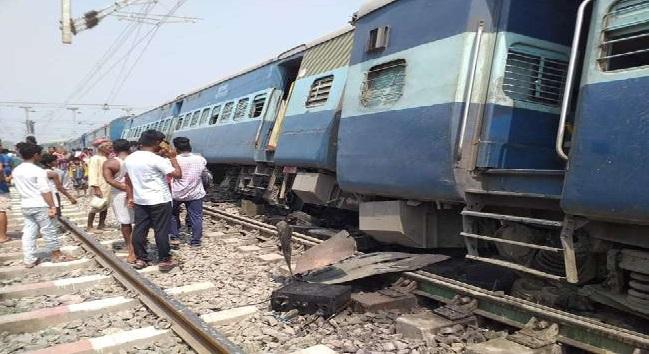 रेल हादसा: बिहार में ताप्ती गंगा एक्सप्रेस के 13 डिब्बे बेपटरी, 4 यात्री घायल