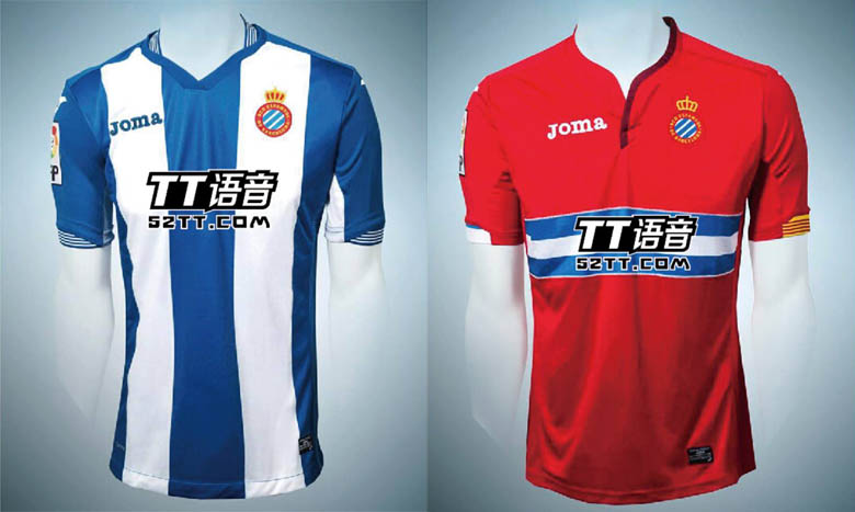 e96e352b9f6 Espanyol already debuted their new sponsor in the league clash against arch  rivals FC Barcelona in Saturday s game at the Cornella-El Prat Stadium.