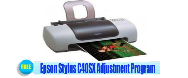 Epson Stylus C40SX Adjustment Program