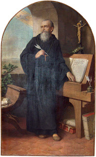 Painting: Herman Nieg, Benedict of Nursia, 1926