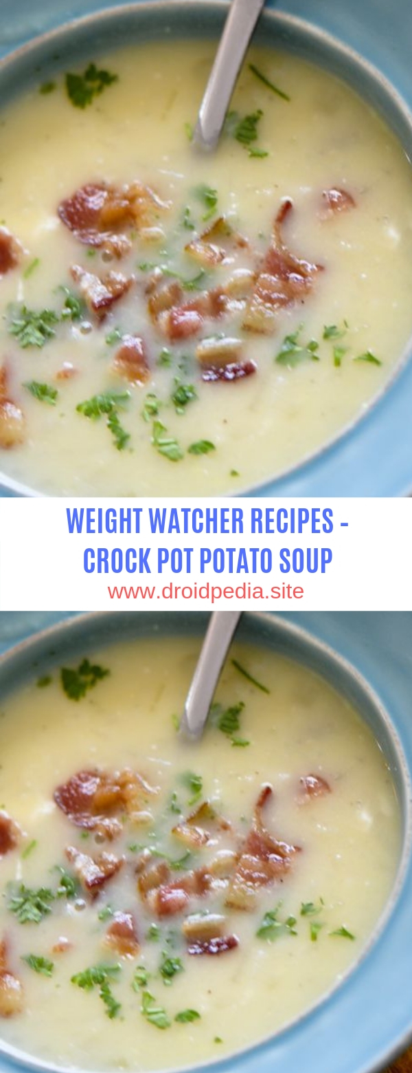 WEIGHT WATCHER RECIPES – CROCK POT POTATO SOUP