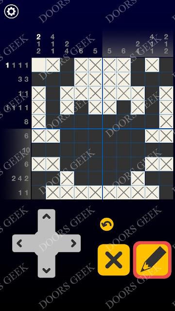 Picross Galaxy Level 5 Solution, Cheats, Walkthrough