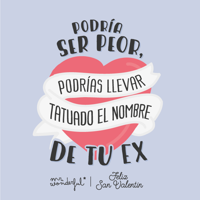 Descargable San Valentín Mr Wonderful Podría ser peor