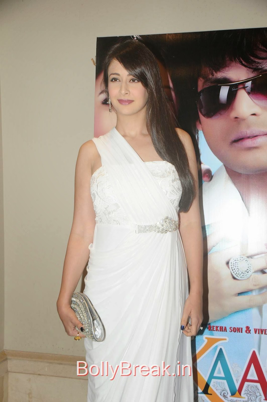 High Quality Preeti Jhangiani Pics, Preeti Jhangiani Hot Pics in white dress from Kaash Tum Hote Trailer Launch