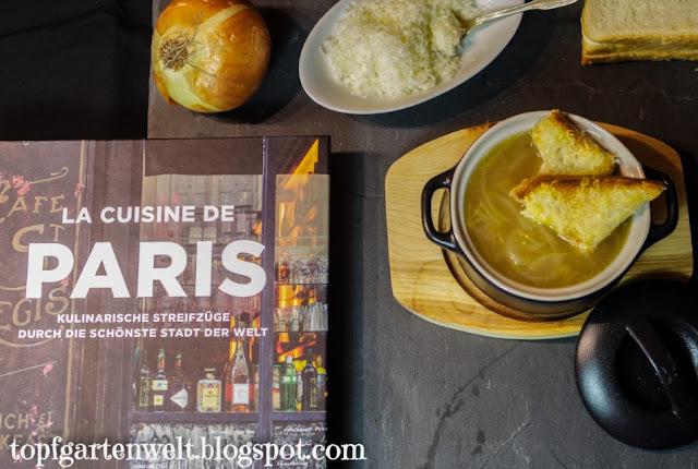 Französische Zwiebelsuppe aus Kochbuch - Foodblog Topfgartenwelt