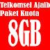 Sukses Aktivasi Kartu Telkomsel Ajaib Kuota 8 GB