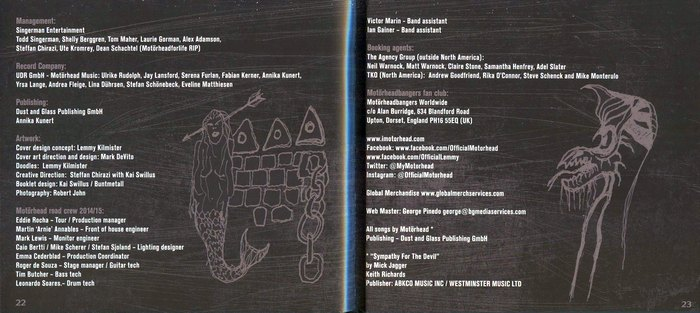 MOTORHEAD - Bad Magic [LTD Edition Ecolbook Digipak] booklet 2