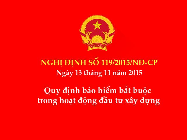 Nghị định số 119/2015/NĐ-CP ngày 13/11/2015