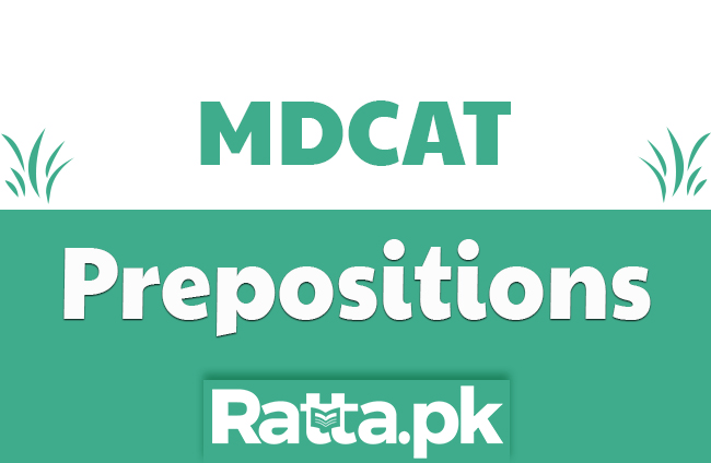Important Prepositions for MCAT - English MDCAT Preparation