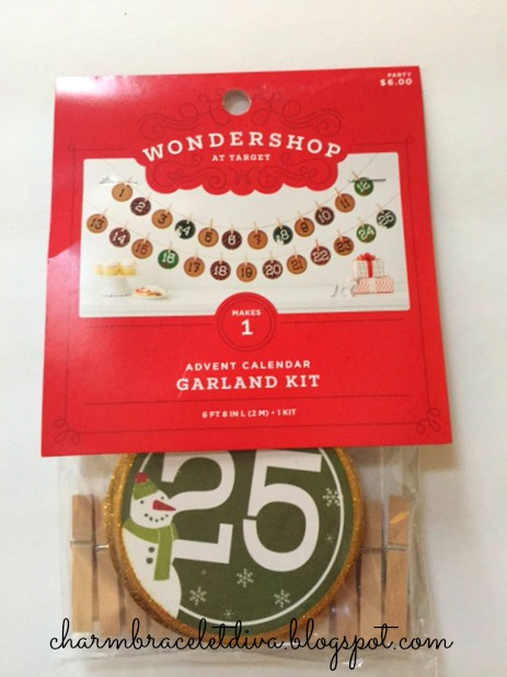 Target Advent Calendar Garland Kit