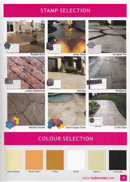 Pola dan Tekstur Serta Pilihan Warna Decorative Concrete