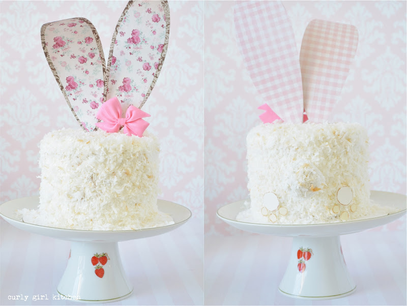 Easter Bunny Coconut Cake