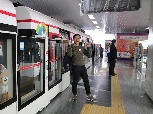 Akhirnya Bisa Nyobain LRT di Jakarta!