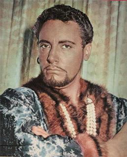 Mario del Monaco, dressed for his most famous role as Otello in Verdi's opera of the same name