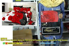 Sprei Luxury Kintakun Queen B2 160x200xT25 Romance Bunga Merah Hitam Putih Dewasa