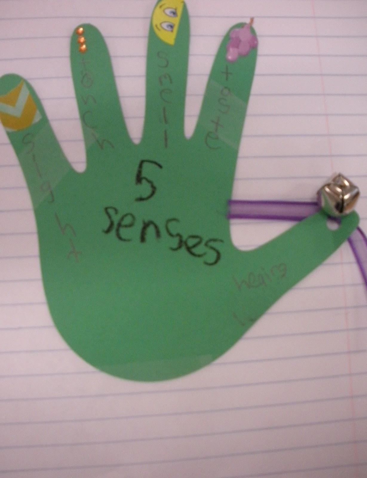 five senses hand