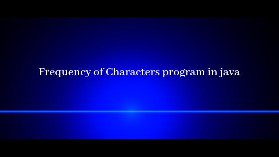 Characters program in java