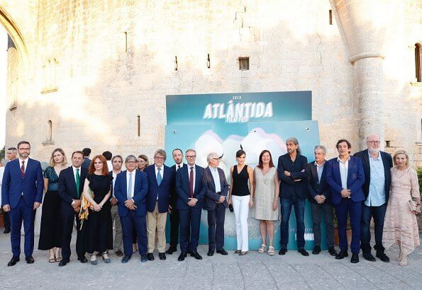 Queen Letizia wore Manolo Blahnik Slingback Pumps at the opening ceremony of the Atlàntida Film Fest in Palma