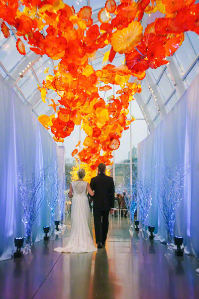 Clane Gessel Photography Wedding at the Chihuly Garden and Glass  Diane and Rick
