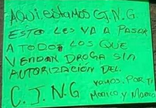 """""""Vamos por ti Monico y Marro"""", CJNG dejan hombre ejecutado en el municipio de Huanímaro"""