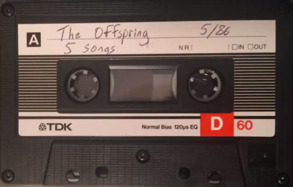 "The Offspring rare ""5 Songs"" demotape from May 1986"