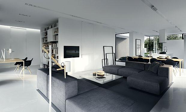 Kerala Building Construction: Black and white Interior Designs