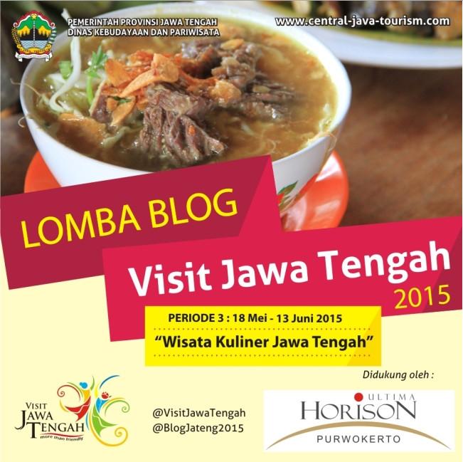 Yuk Ikuti Kontes Blog Wisata Kuliner Jawa Tengah