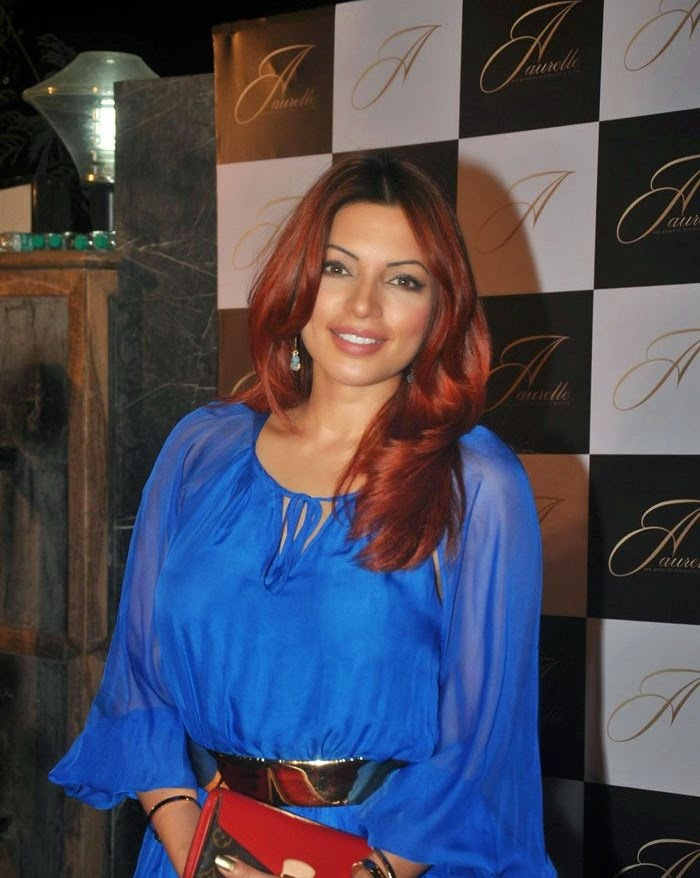 shama Sikandar in blue dress, Sonal, Shama & Preeti at Launch of 'Aaurelle' Jewellery