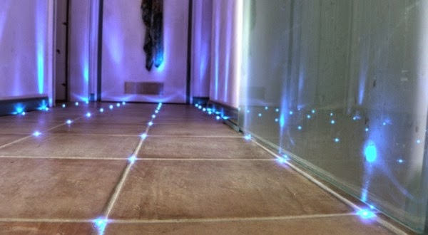 How to make built in LED floor lights in bathroom tiles ...