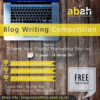 Blog Writing Competition dari ABAH
