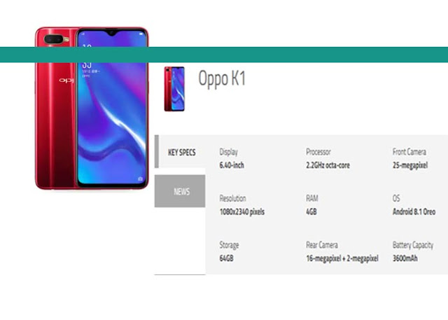 Oppo K1 India Launch Set for February 6