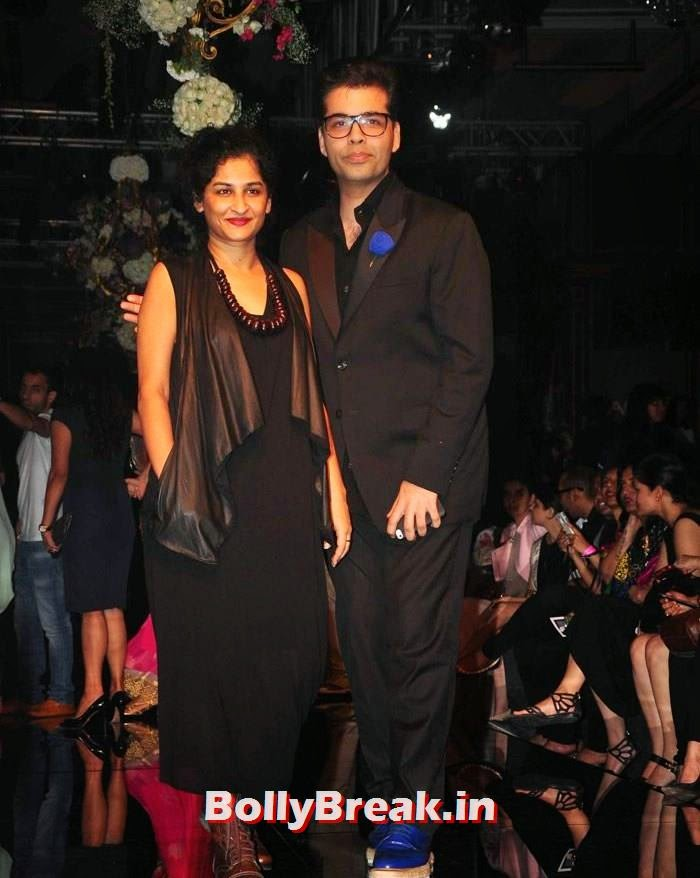 Gauri Shinde, Karan Johar, Pics of Manish Malhotra Show at Lakme Fashion Week 2014