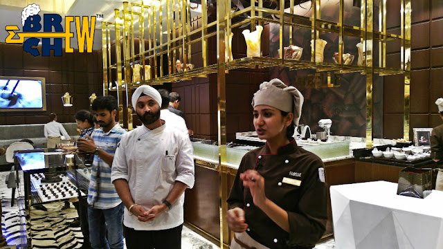 Fabelle Chocolate Boutique, ITC Hotel, Chef Ruby & Harpawan Singh Kapoor explaining about chocolates