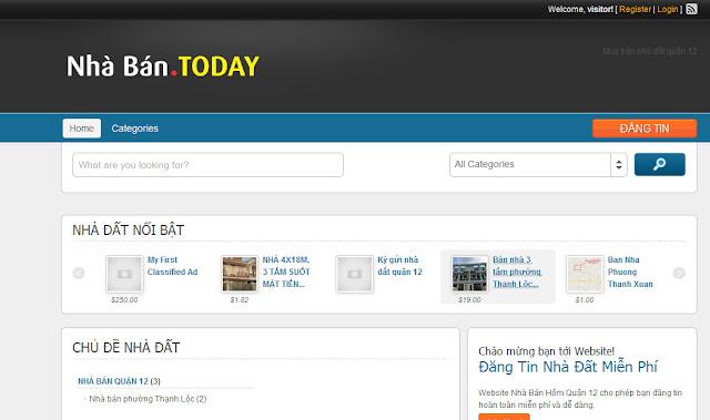 Theme Website Rao vặt Wordpess có bản Mobile
