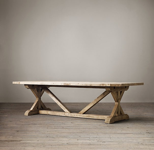Restoration Hardware Dining Table Knock Off