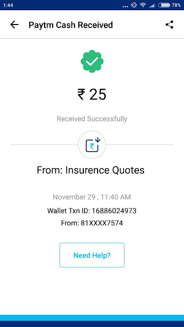 Insurance Quotes App Payment Proof: